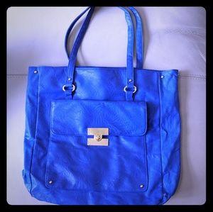 ASOS Color Block Shopper Bag - Cobalt